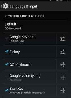 Setting Pengaturan Keyboard Ponsel Android